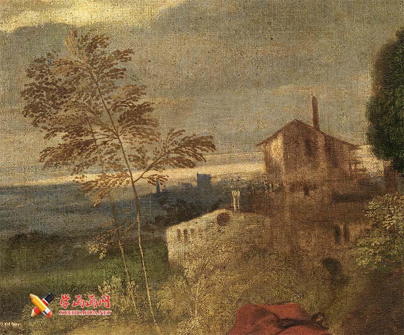 乔尔乔内《田园合奏》高清油画赏析(4)