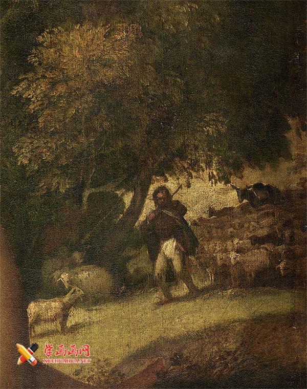乔尔乔内《田园合奏》高清油画赏析(5)