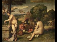 乔尔乔内《田园合奏》高清油画赏析_乔尔乔内人生最后一幅杰作