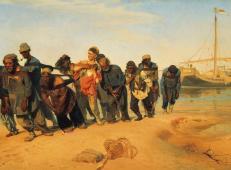 列宾代表作《伏尔加河上的纤夫》名画赏析