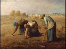 米勒代表作《拾穗者》高清油画在线赏析