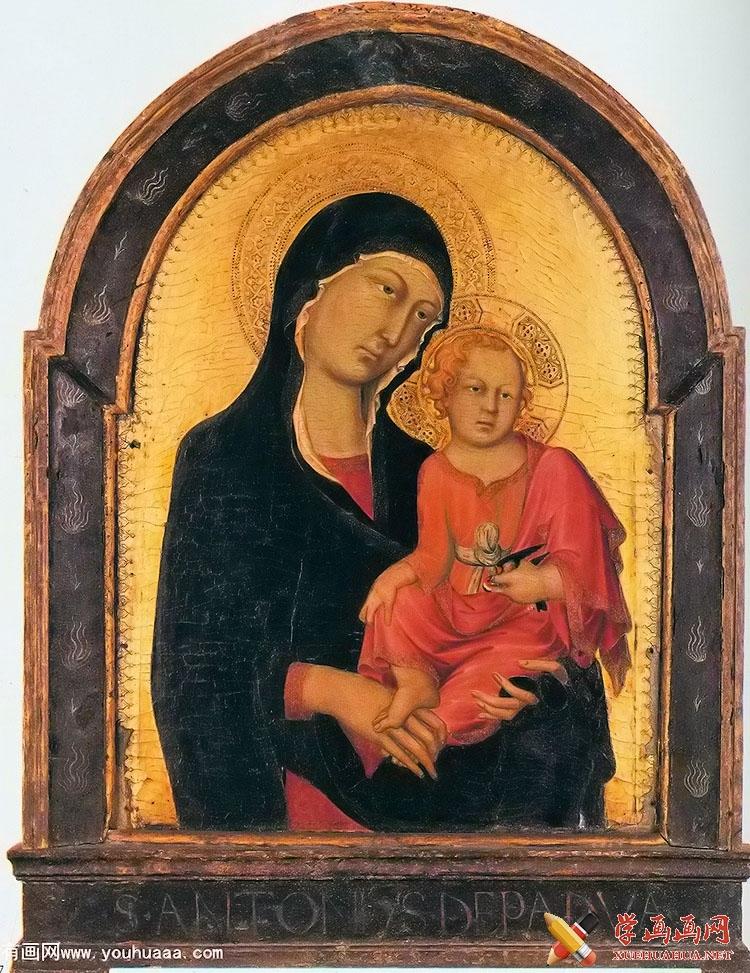 油画作品《圣母与圣子图》(1)