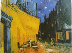 梵高作品《夜间露天的咖啡座》高清图片赏析