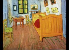 梵高代表作《在阿尔勒的卧室》高清图片赏析