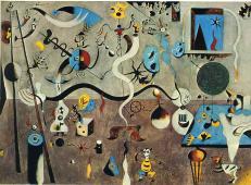 米罗第一幅超现实主义作品《哈里昆的狂欢》赏析