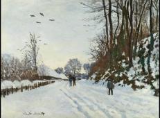 冬季通往圣·西米翁农场前的路 莫奈.jpg
