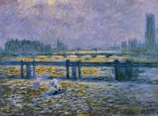 查令十字大桥,泰晤士河上的反射 莫奈.jpg
