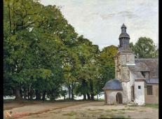 《翁弗勒德·格雷斯圣母院 》莫奈风景油画图片.jpg