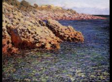 地中海沿岸的岩石 莫奈.jpg