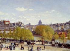 巴黎卢浮宫码头 莫奈.jpg