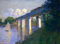 阿让特伊的铁路桥 莫奈.jpg
