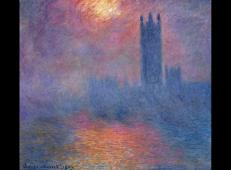 穿过薄雾的阳光下的伦敦国会大厦 莫奈.jpg