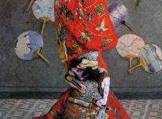 穿日本和服的卡美伊·莫奈 莫奈.jpg