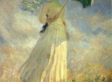 撑着太阳伞面向右边的女子 莫奈.jpg