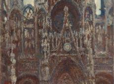 傍晚时的鲁昂大教堂,和谐的棕色.jpg