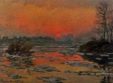 冬天塞纳河上的夕阳 莫奈.jpg