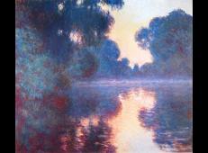 布埃塞纳河上有薄雾的早晨 莫奈.jpg