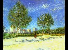 在巴黎郊区 荷兰 梵高 油画 1887.jpg