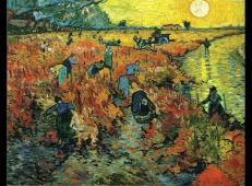 在阿尔勒红葡萄园 荷兰 梵高 油画.jpg