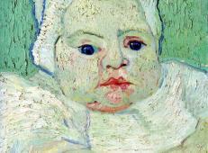 婴儿马塞勒·鲁林 荷兰 梵高 油画.jpg
