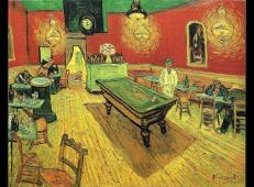 夜间咖啡馆 荷兰 梵高 油画 荷兰,克勒勒-米勒博物馆藏 1888.jpg