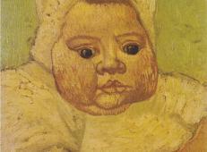 婴儿马塞勒·鲁林1 荷兰 梵高 油画.jpg