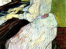在弹钢琴的玛格丽特·嘉舍 荷兰 梵高 油画 1890.jpg