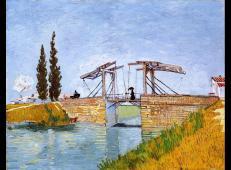 曳起桥与打伞女士1 荷兰 梵高 油画 德国,华拉夫理查兹博物馆藏 1888.jpg