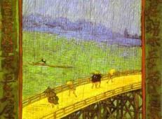 雨中之桥(日本艺术) 荷兰 梵高 油画.jpg