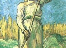 在耙草的农妇 荷兰 梵高 油画.jpg