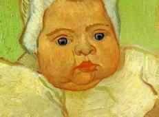 婴儿马塞勒·鲁林2 荷兰 梵高 油画.jpg