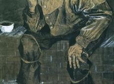坐着抽烟的渔夫 荷兰 梵高 油画.jpg