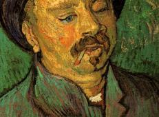 睁着一只眼的男人肖像 荷兰 梵高 油画.jpg
