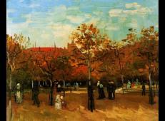 在布洛涅公园散步的人 荷兰 梵高 油画.jpg