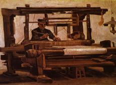 织布工的正面 荷兰 梵高 油画.jpg