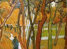 在落叶中散步 荷兰 梵高 油画.jpg