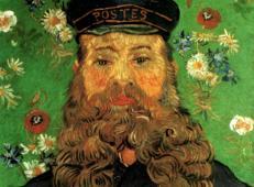 邮差约瑟夫·鲁林3 荷兰 梵高 油画.jpg