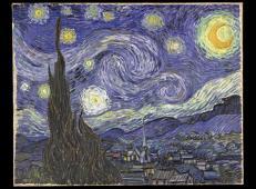 星夜 荷兰 梵高 1890年6月 油画 73.7厘米X92.1厘米 纽约现代艺术博物馆.jpg