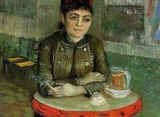 长鼓咖啡馆里的女子 荷兰 梵高 油画.jpg