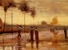 在埃因霍温的星期日 荷兰 梵高 油画.jpg