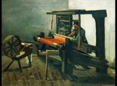 织布工的左侧和纺车 荷兰 梵高 油画.jpg