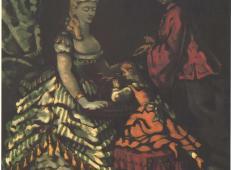 室内的两名女子和孩子 塞尚作品赏析.jpg