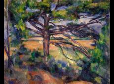 大松树和红土地 塞尚作品赏析 1890-1895年,布面油画,72x91厘米,冬宫博物馆,圣彼得堡,俄罗斯.jpg