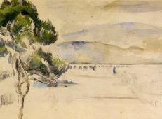 弧形山谷里的松树 塞尚作品赏析.jpg