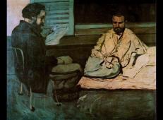 保罗·亚历克西斯向埃米尔·左拉阅读手稿 塞尚作品赏析.jpg