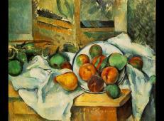 桌子上的餐巾和水果 塞尚作品赏析.jpg