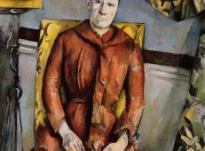 坐在黄色椅子上的塞尚夫人 塞尚作品赏析.jpg