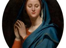 蓝色面纱圣母 法国 安格尔.jpg