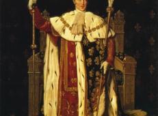 查理十世身穿加冕长袍的肖像 法国 安格尔.jpg