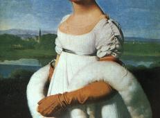 里维埃尔小姐 法国 安格尔作品赏析 1806年,布面油画.jpg